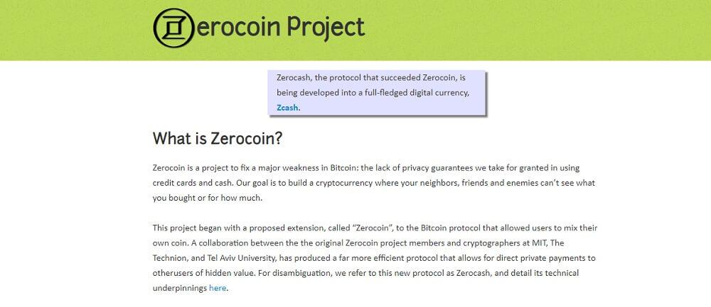 Проект Zerocoin.org